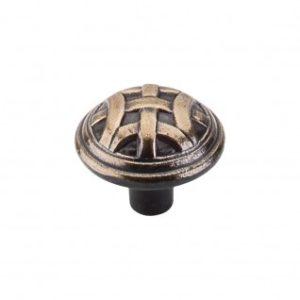 Celtic Large Knob 1 1/4 Inch - Dark Antique Brass