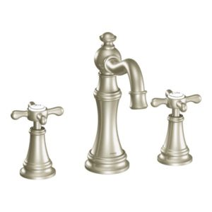 Weymouth Two Handle High Arc Bathroom Faucet